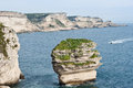 White cliffs of bonifacio corsica beautiful limestone Stock Photo