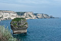 The white cliffs of bonifacio limestone Stock Photography