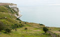 White cliffs of dover in kent area at the southeast england Royalty Free Stock Images