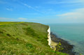 White cliffs england at the coast near dover uk Stock Image