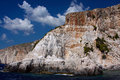 White cliffs of Zakynthos island, Greece Royalty Free Stock Photos