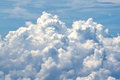White cloud in blue sky background Royalty Free Stock Photo