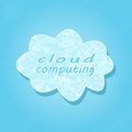 White Cloud Computing Concept Stock Photo