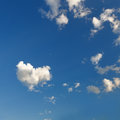 White cloud in the form of heart on blue sky Royalty Free Stock Photo