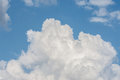 White cloud formations on the blue sky. Abstract heaven background with white clouds Royalty Free Stock Photo
