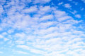 White clouds on blue sky. Royalty Free Stock Photo