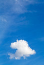 White clouds in blue sky in summer day little fluffy cumulus cloud Royalty Free Stock Images