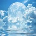 Bianco nuvole luna