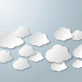 White clouds grey background on the eps file Royalty Free Stock Photography
