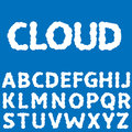 White Clouds letters