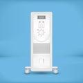 White coastal electric heater
