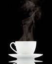 White coffee cup over black background Stock Image
