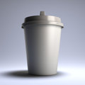 White coffee paper cup. Stock Photos