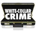 White Collar Crime 3d Words Briefcase Embezzle Fraud Theft Royalty Free Stock Photo