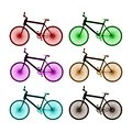 White color bicycle icon - illustration