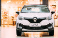 White Color Renault Kaptur Car Is The Subcompact Crossover In Ha Royalty Free Stock Photo