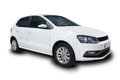 White Compact Four Door Car Royalty Free Stock Photo