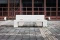 Concrete bench with nobody around Royalty Free Stock Photo
