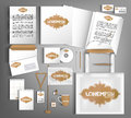 White corporate Identity set with vintage design elements.
