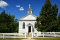 White Country Church Royalty Free Stock Photo