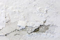 White cracked plastering wall background or texture Royalty Free Stock Photo