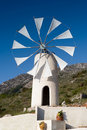 White cretan windmill Royalty Free Stock Photo