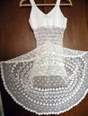 White crochet dress Royalty Free Stock Photos