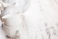 White crockery for tea Royalty Free Stock Photo