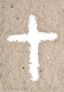 White cross in ash Royalty Free Stock Photo