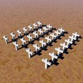 White crosses Royalty Free Stock Image