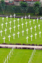 White crosses in a cemetery Stock Images