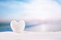 White Crystal Heart On White S...