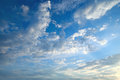 White cumulus clouds against blue sky Royalty Free Stock Images