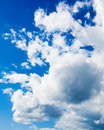 White cumulus clouds in the blue sky. Backgroun Royalty Free Stock Images
