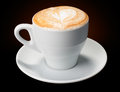 White cup coffee cappuccino, latte Royalty Free Stock Images