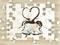 White cup coffee heart shape Royalty Free Stock Photo