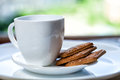 White cup and saucer Royalty Free Stock Photo