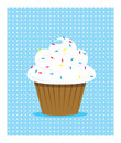 White cupcake Stock Photos