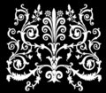 White curled symmetric ornament Royalty Free Stock Photos