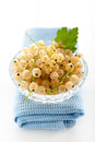 White currant currants in a crystal vase on a background Royalty Free Stock Photography