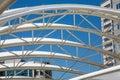 White Curved Tubular Steel Arc...
