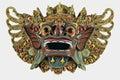White Cutout of Balinese Demon Wooden Hanging Mask Royalty Free Stock Photo