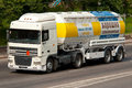 White DAF truck Royalty Free Stock Photo