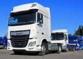 White DAF XF Euro6 Truck Royalty Free Stock Photo