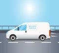 White delivery Van