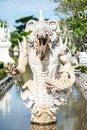 The white demon statue Royalty Free Stock Photo