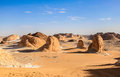 White desert egypt a main geographic attraction of farafra is its known as sahara el beyda with the word sahara meaning a the Royalty Free Stock Photo