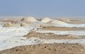 White desert rock formation egypt Royalty Free Stock Photography