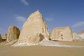 White desert rock formation egypt Stock Image