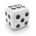 White dice Royalty Free Stock Photography
